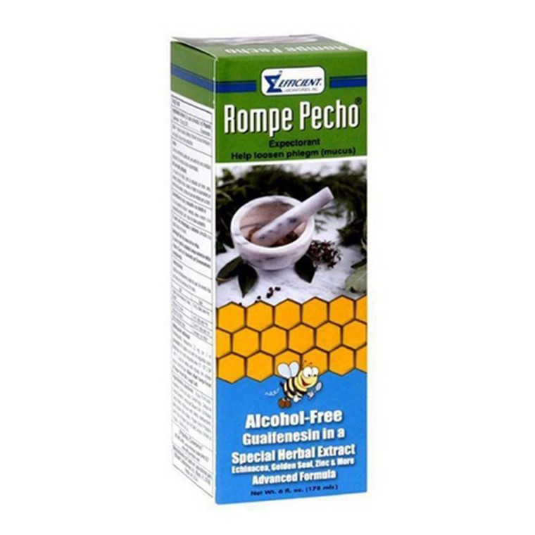 Rompe Pecho Cough Syrup, Alcohol Free, 6 Oz