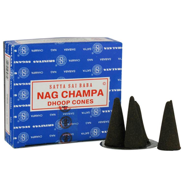 Satya Sai Baba Nag Champa Dhoop Cones - 12 ea