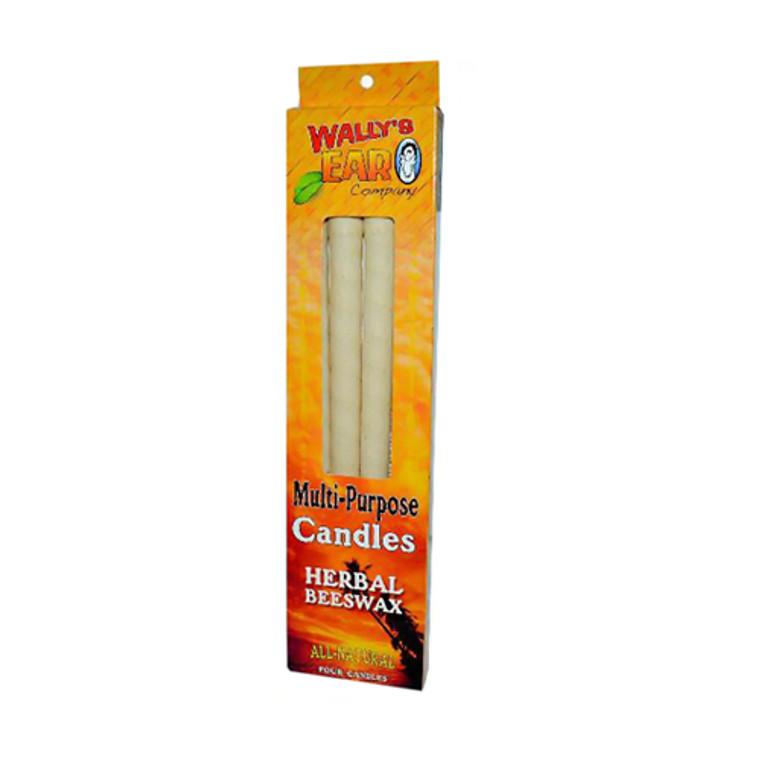 Wallys Natural Herbal Beeswax Candles - 4 Ea