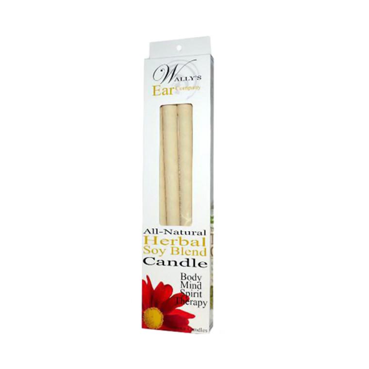 Wallys Natural Herbal Soy Blend Candles - 4 Ea
