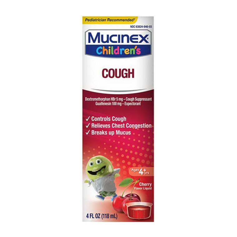 Mucinex Childrens Cough Syrup, Cherry, 4 Oz