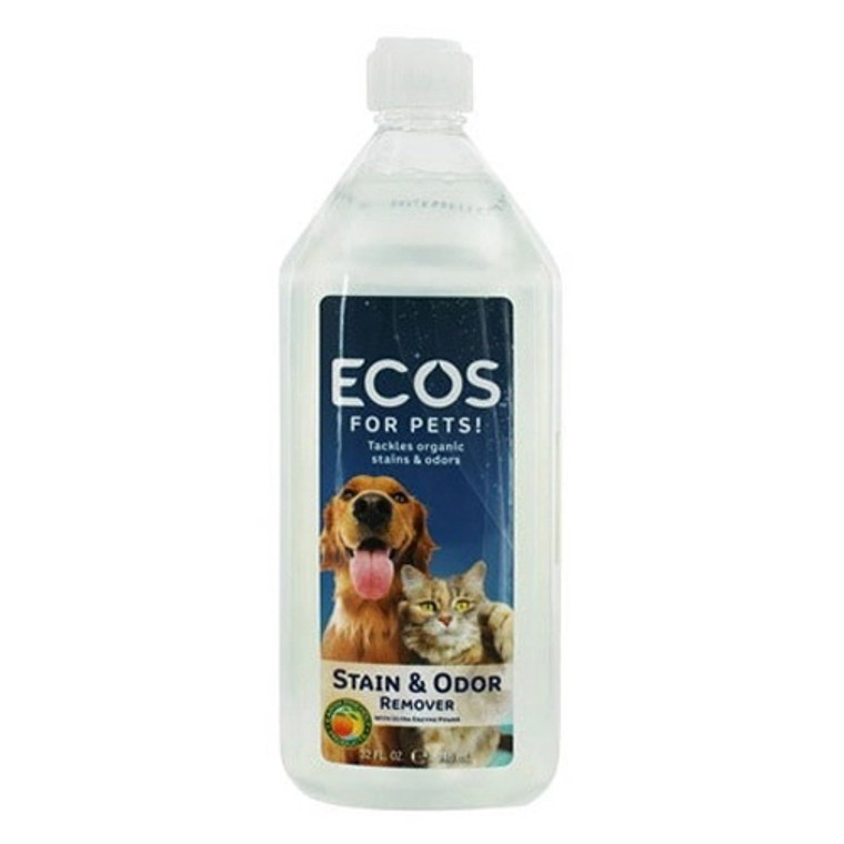 Earth Friendly ECOS For Pets Stain and Odor Remover, 32 oz