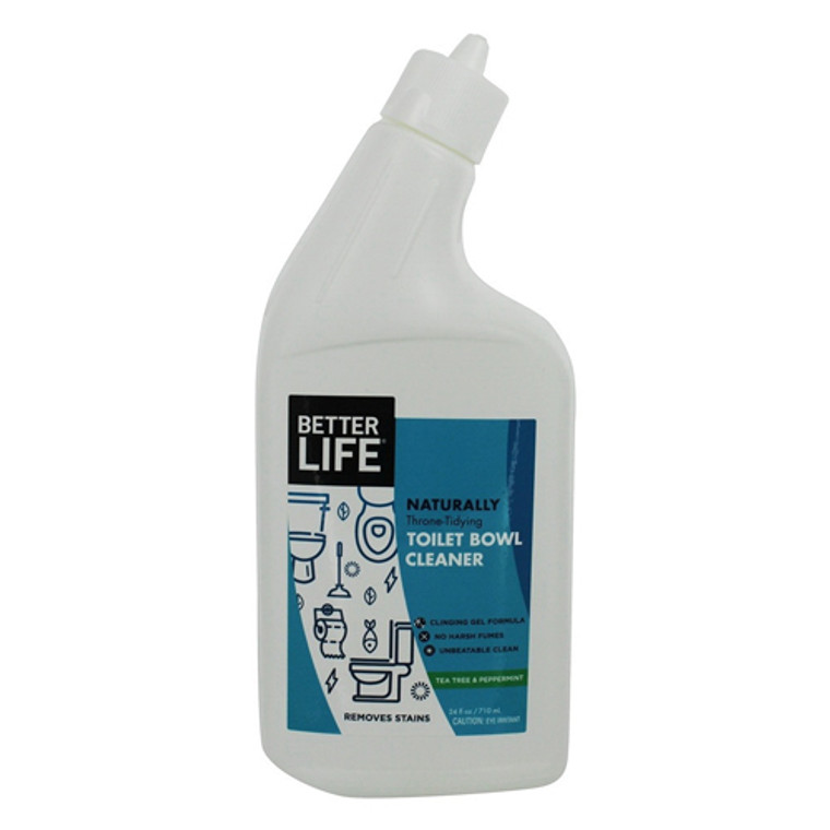 Better Life Natural Toilet Bowl Cleaner with Tea Tree and Peppermint Clinging Gel Formula, 24 OZ