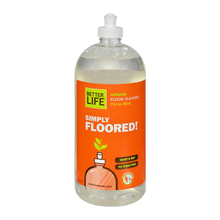 Better Life Simply Floored Natural Floor Cleaner Citrus Mint - 32 Oz