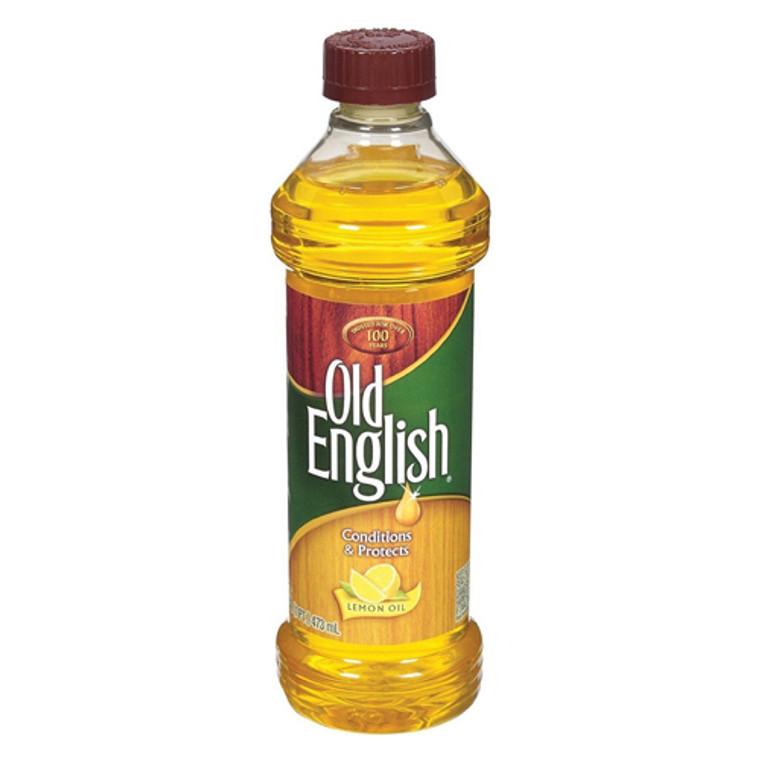 Old English Furniture Polish Bottle, Lemon Oil, 16 oz