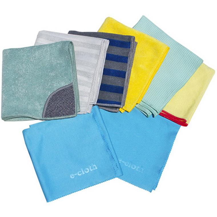 E-Cloth Home Cleaning Set Cloths, 8 ea, 1 Pack