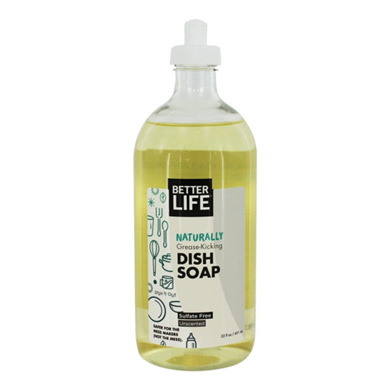 Better Life Unscented Dish It Out Natural Liquid Dish Soap - 22 Oz