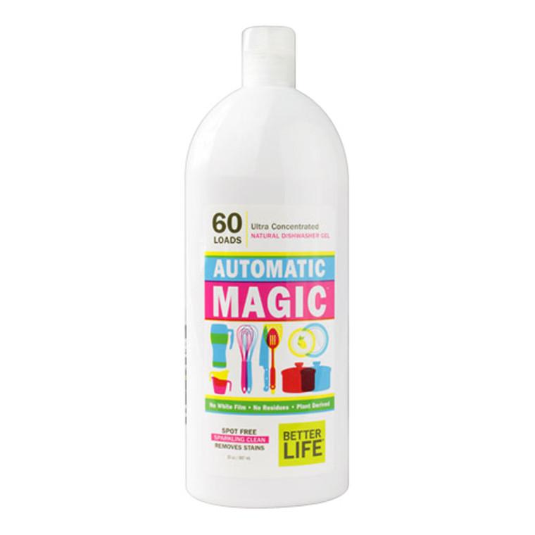 Better Life Automatic Magic Natural Dishwasher Gel, Fragrance Free - 30 Oz