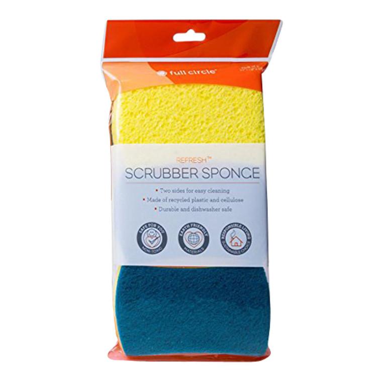 Full Circle Refresh Scrubber Home Sponges, 3 Ea