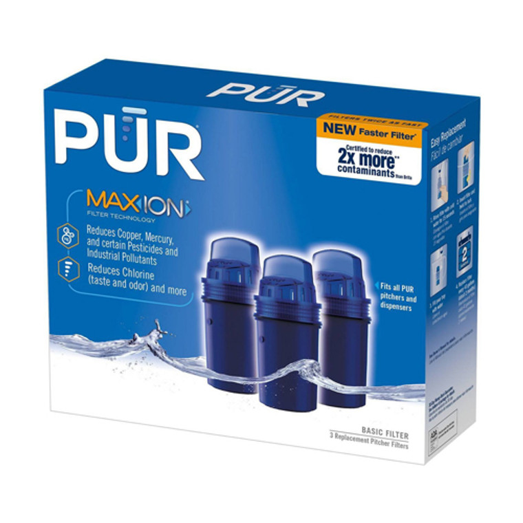 Pur Maxion Faster Basic Water Pitcher Replacement Filter, 3 Ea