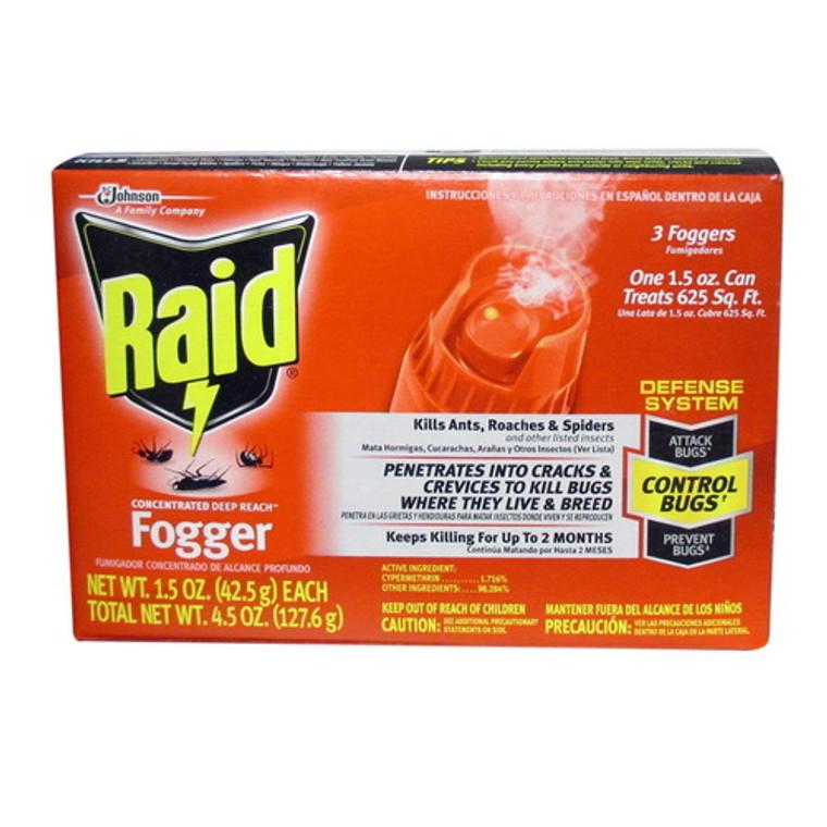 Raid Concentrated Deep Reach Fogger (1.5 X 3= 4.5 Oz), 3 Ea
