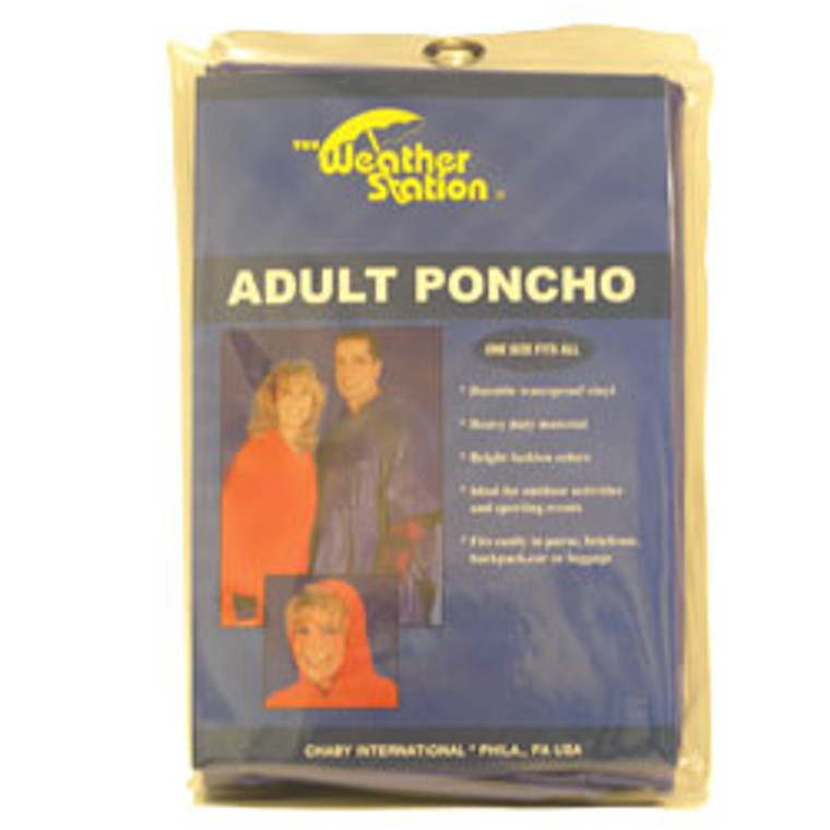 Poncho For Adult, Weather Station - 1 Ea