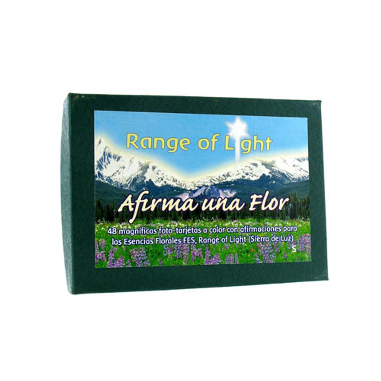 Flower Essence Affirm A Flower Set Of Range Of Light Flower Cards, Spanish - 48 Ea