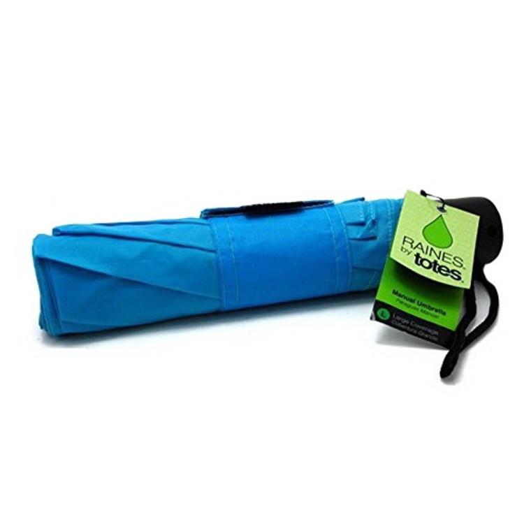Raines by Totes Umbrella Manual Fold Umbrella, Assorted Colors, 1 Ea