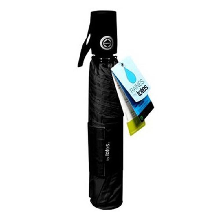 Totes Raines Umbrella Auto Open and Close Large, Black, 1 Ea