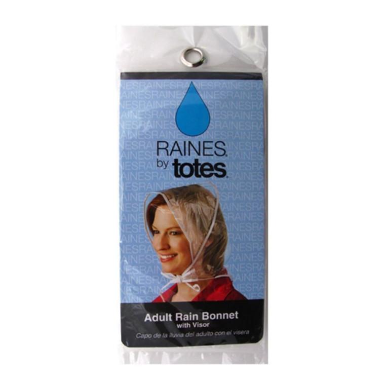 Raines By Totes Rain Bonnet With Visor, Adult, 1 Ea