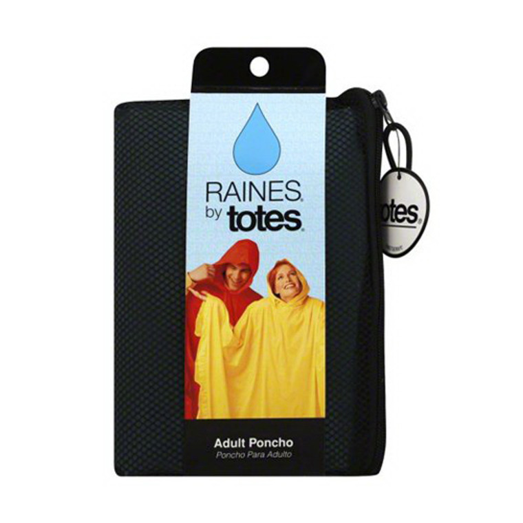 Raines By Totes Rain Poncho Adult, Assorted Colors, 1 Ea