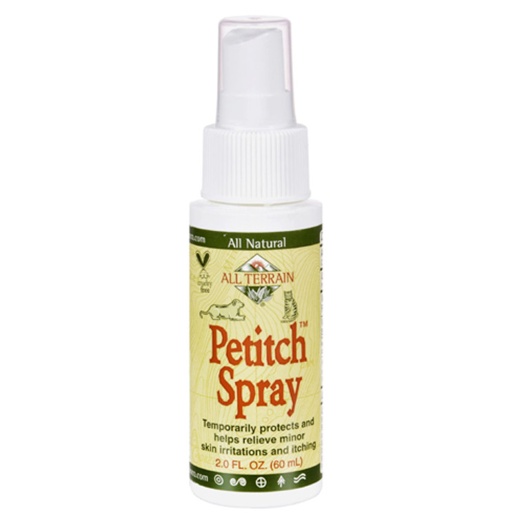 All Terrain Petitch Spray Relieve Minor Skin Irritations and itching - 2 oz