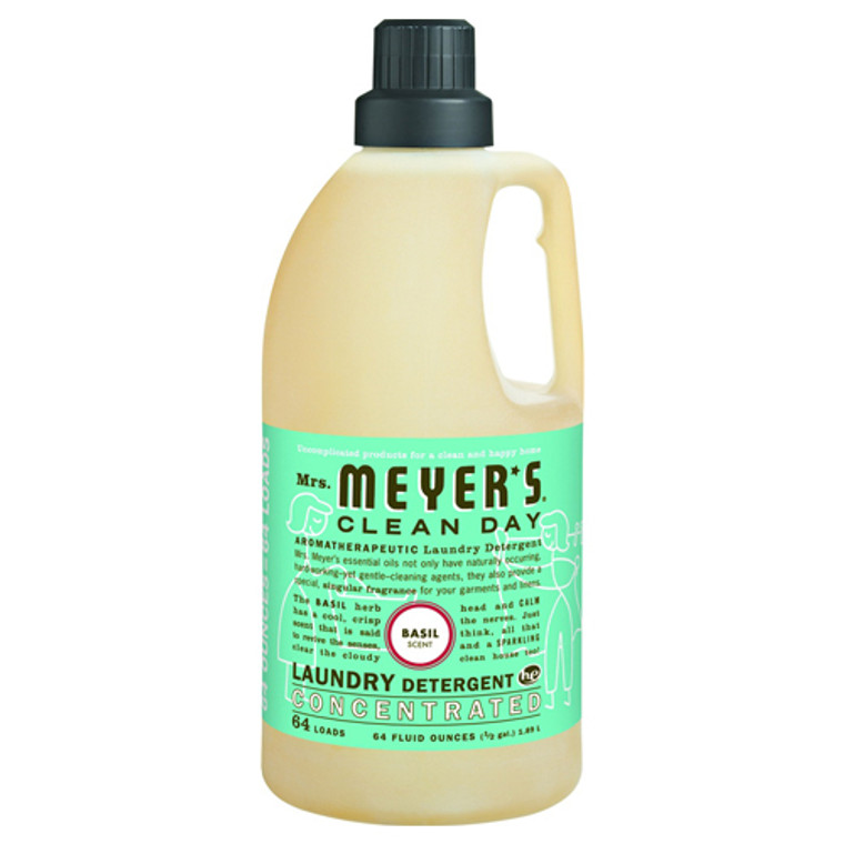 Mrs. Meyers Clean Day Laundry Detergent Concentrated, Basil - 64 Loads