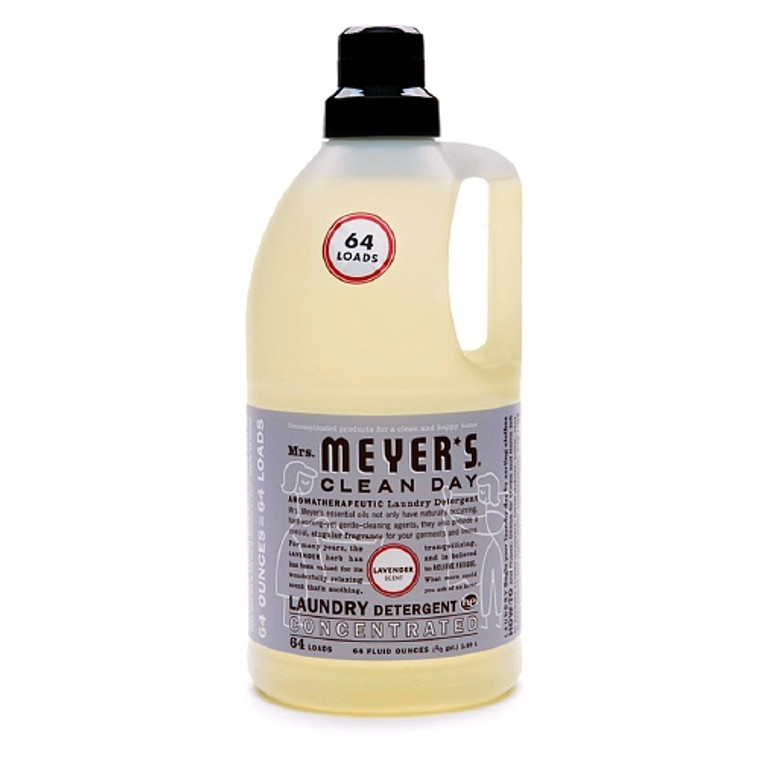 Mrs. Meyers Clean Day Laundry Detergent Concentrated, Lavender - 64 Oz, 64 Loads