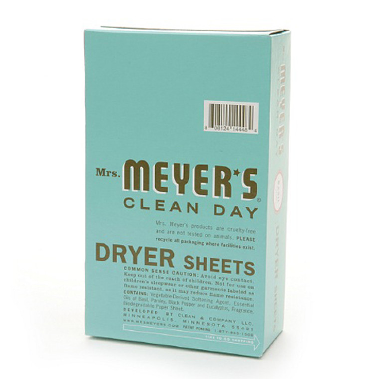 Mrs. Meyers Clean Day Dryer Sheets, Basil - 80 Sheets