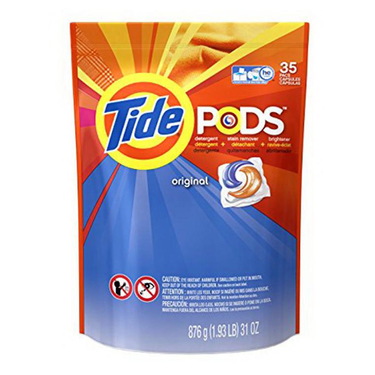 Tide Pods Laundry Detergent Packs Original 35 Ea