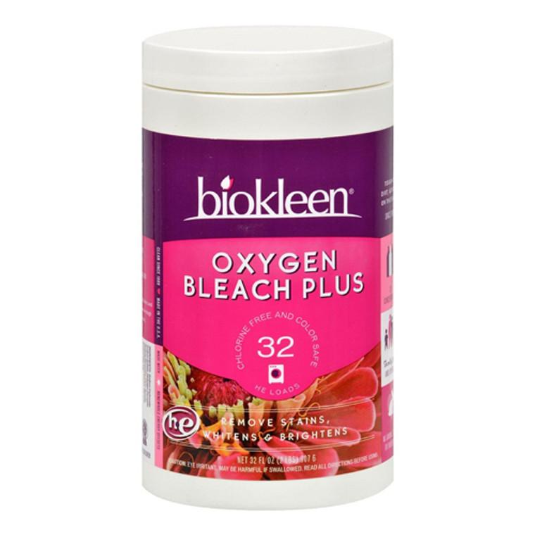 Biokleen Oxygen Bleach Plus Remove Stains Whitens Brightens Fabrics, 32 Oz