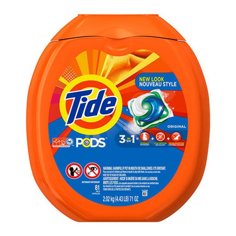 Tide Pods Original Scent Laundry Detergent 81 Count, 4 Pack