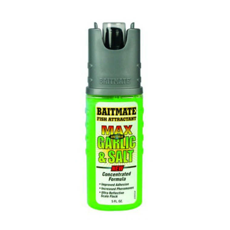 Baitmate Max Ultra Garlic And Salt Fish Attractant, Concentrated Formula - 5 Oz