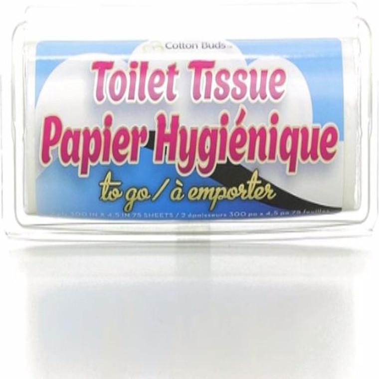 Cotton Buds Toilet Tissue To Go, 75 Ea