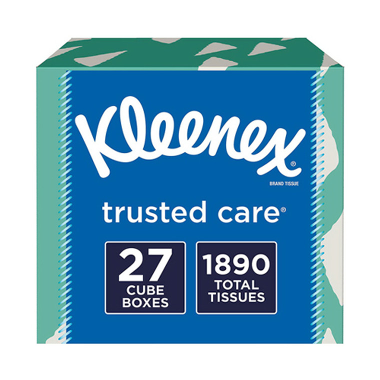 Kleenex Trusted Care Facial Tissues, 70 Tissues per Box (color may vary), 27 Pack