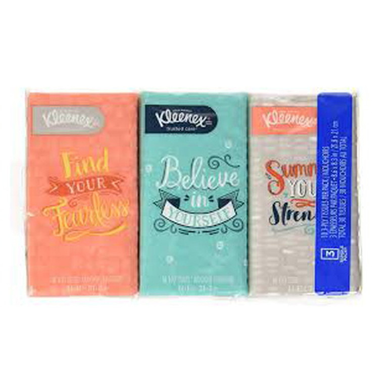 Kleenex Go Pack 10 ply 3 Pack Facial Tissues, 36x3 Pack