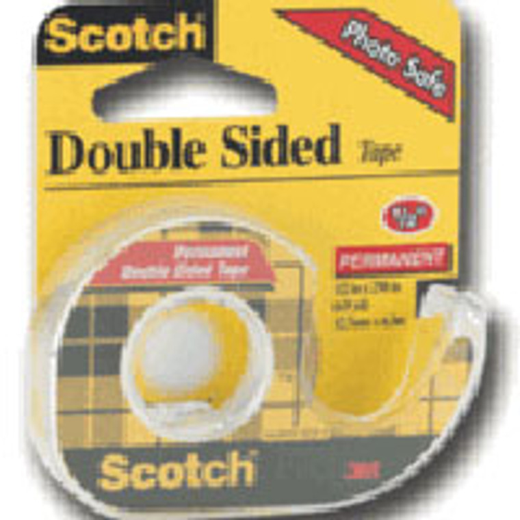 Scotch Double Sided Tape, 1/2 Inches X 250 Inches - 1 Roll