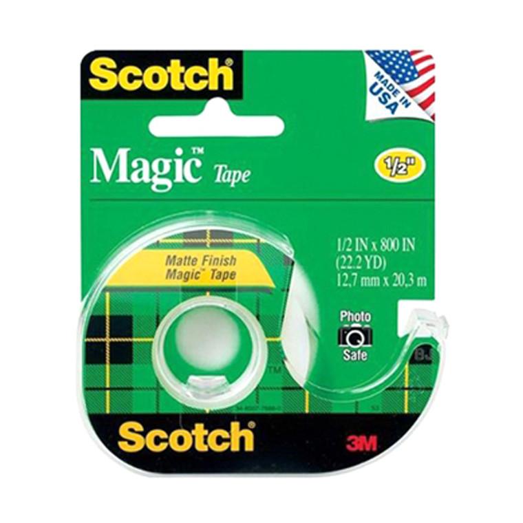 3M Scotch Magic Transparent Tape, 1/2 X 800 Inches - 1 Ea