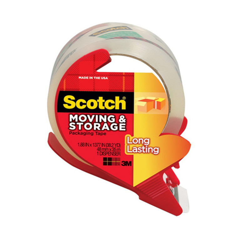 Scotch Mailing And Storage Tape With Refillable Dispenser - 6 Pack