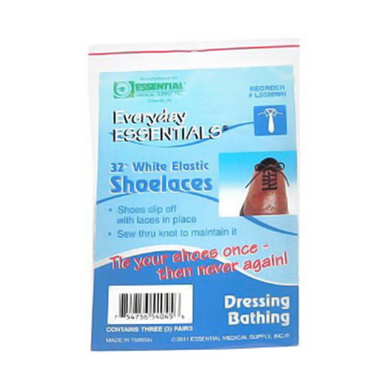 Everyday Essential Elastic Shoelaces, 32 Inches - 3 Pairs