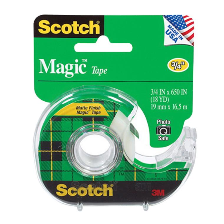 Scotch Magic Tape, 3M 122 3/4 x 650 Inches - 1 Ea