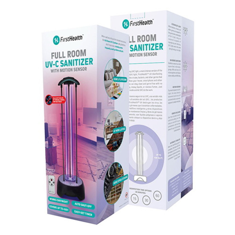 First Health Full Room UV-C Sterilizing Lamp with Motion Sensor, 1 Ea