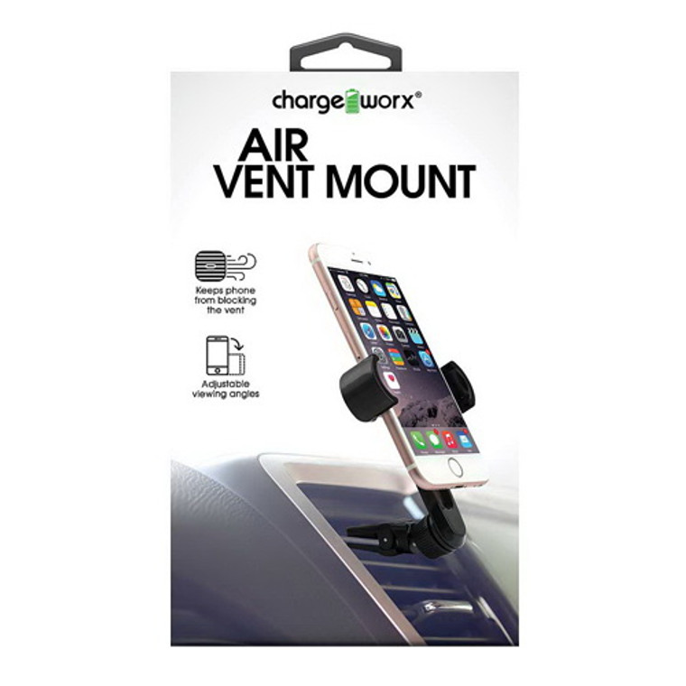 Chargeworx Cell Phone Air Vent Mount Adjustment, Built In Vent Clip 1 Ea