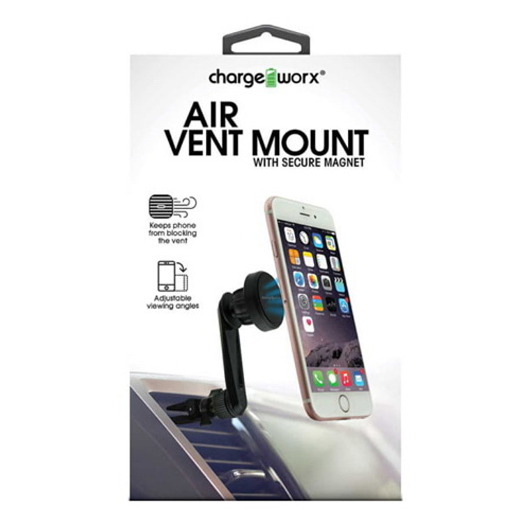 Chargeworx Air Vent Phone Mount Magnetic, Black, 1 Ea