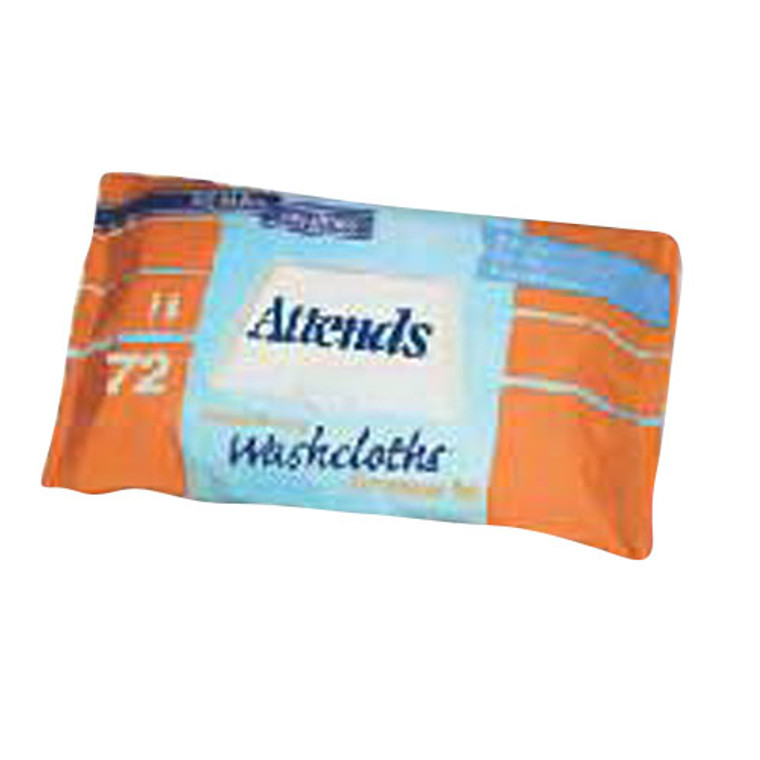 Attends Adult Wet Washcloths Convenience Pack With Aloe - 72 Wipes