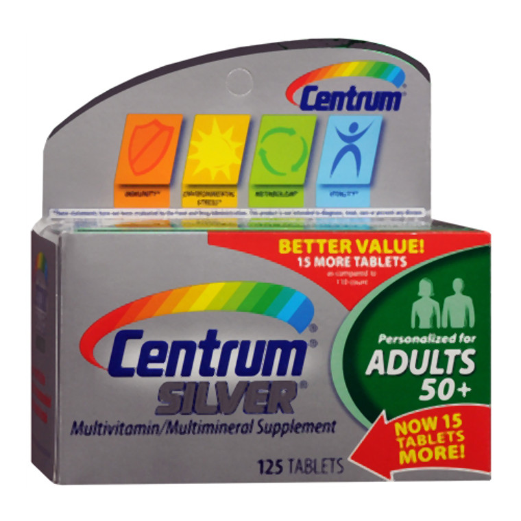 Centrum Silver Multivitamin And Multimineral Tablets For Adults 50 Plus - 125 Ea