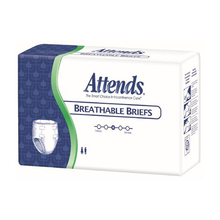 Attends Homecare Breathable Briefs for Adult, Large 44X58 in, 24 ea, 3 Pack