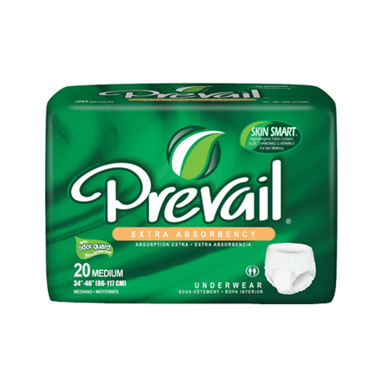 Prevail Extra Underwear, Small And Medium Fits 34 To 46 Inches - 20 Ea, 4 Pack