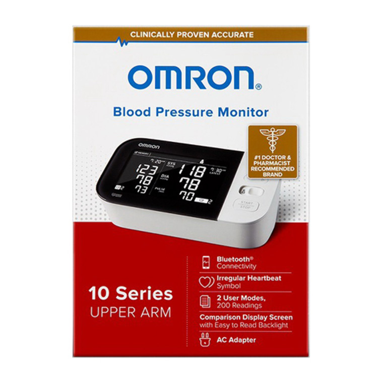 Omron 10 Series Wireless Upper Arm Blood Pressure Monitor, 1 Ea