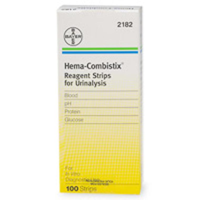 Hema-Combistix Reagent Strips For Urinalysis, #2182  - 100 Ea