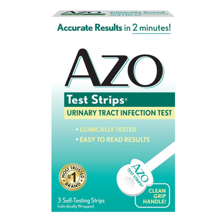 Azo Test Strips For Urinary Tract Infection - 3 Test Strips
