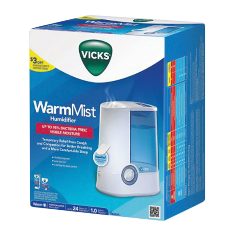 Vicks Warm Mist Humidifier Model V750, 1 Ea