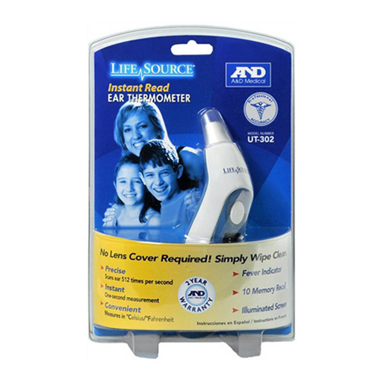 Lifesource Ut-302 Instant-Read Digital Ear Thermometer - 1 Ea