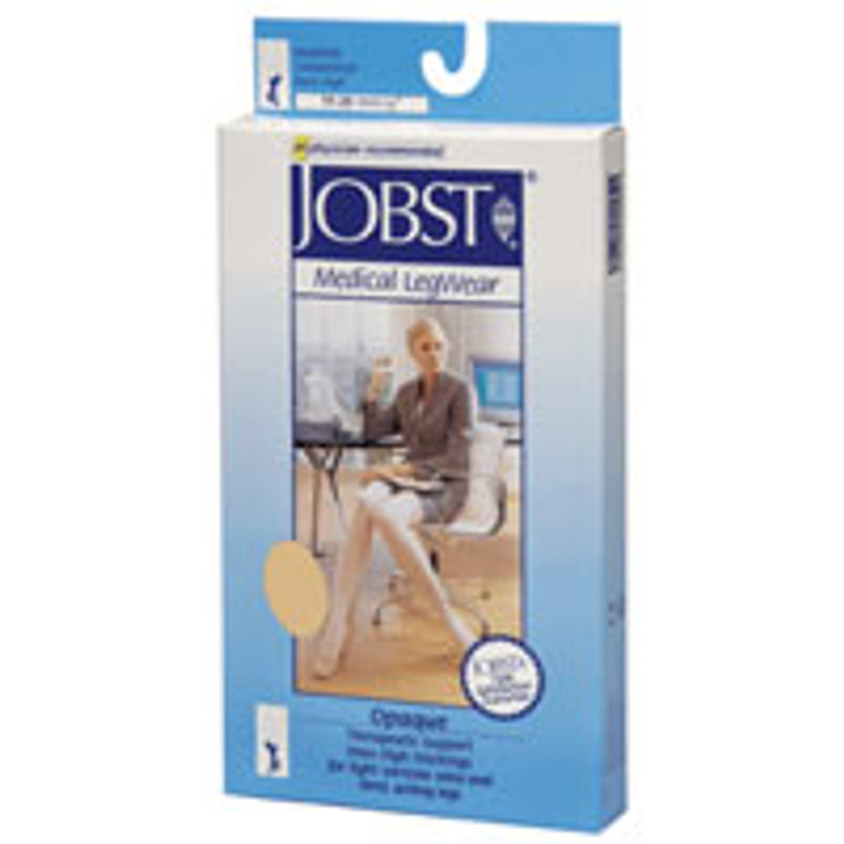 Jobst Opaque Knee High Support Stockings 15-20 Mm/Hg, Beige, Medium - 1 Ea